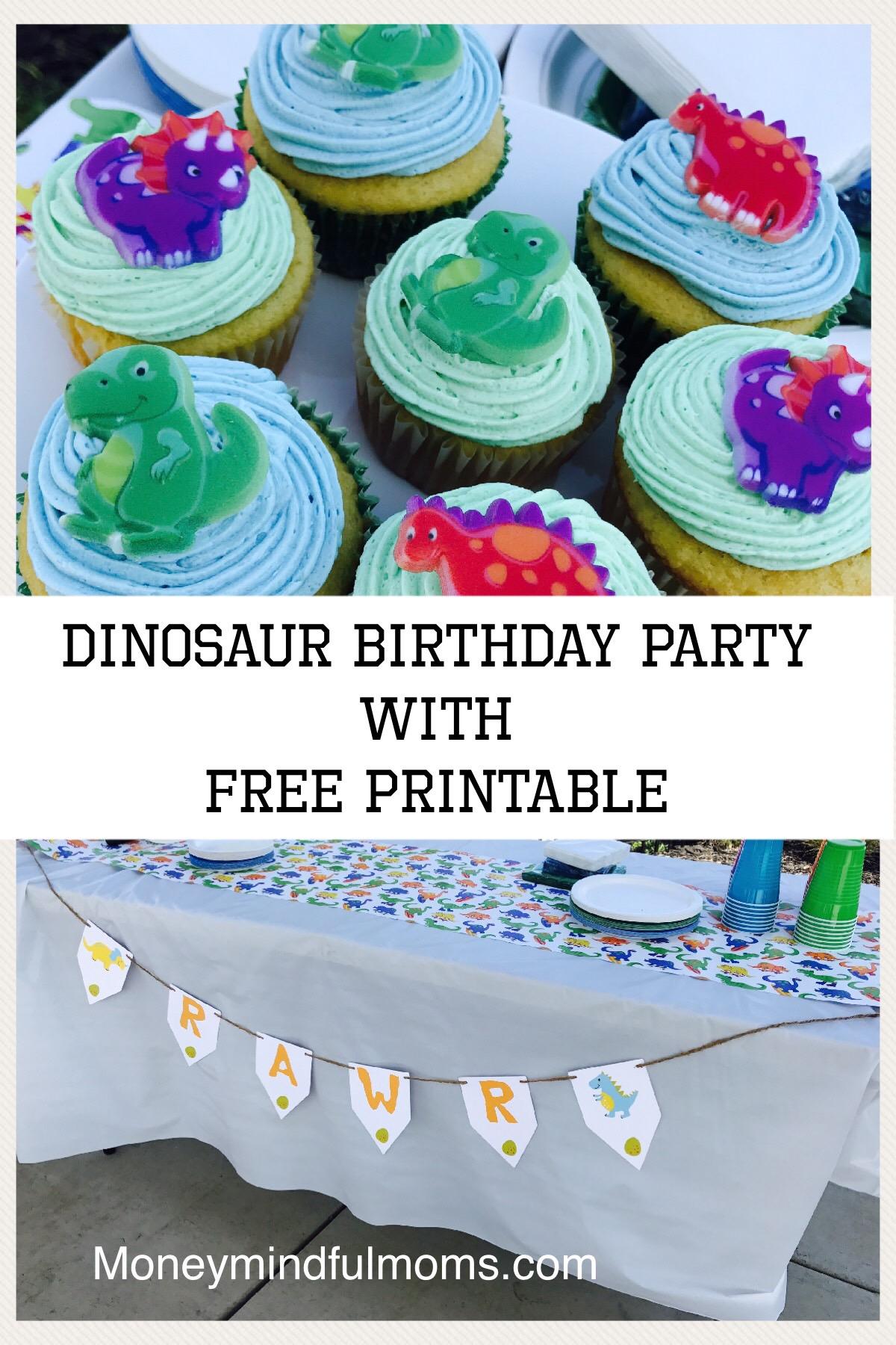 Dinosaur Birthday Party on a Budget