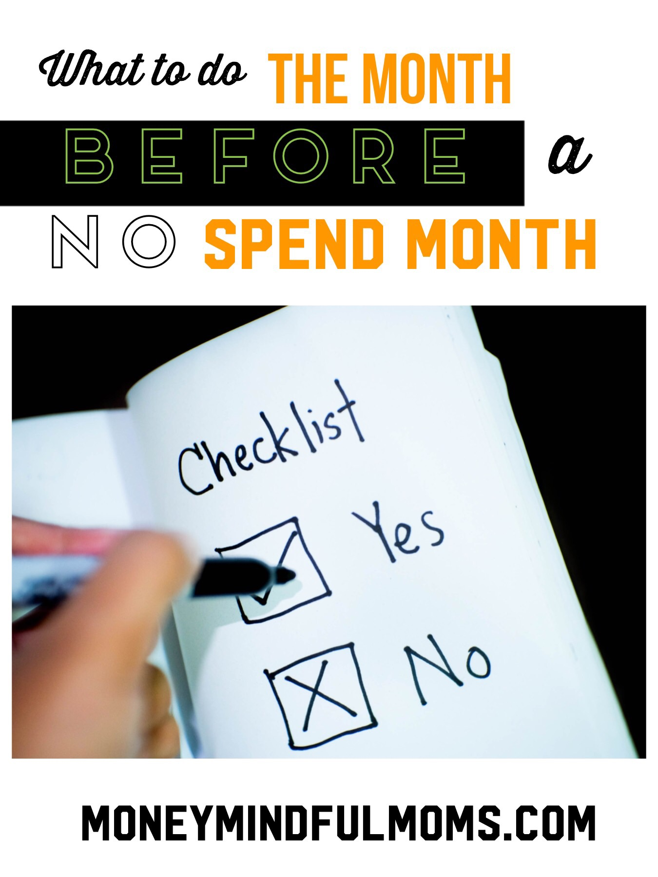 What to do the month BEFORE a no spend month