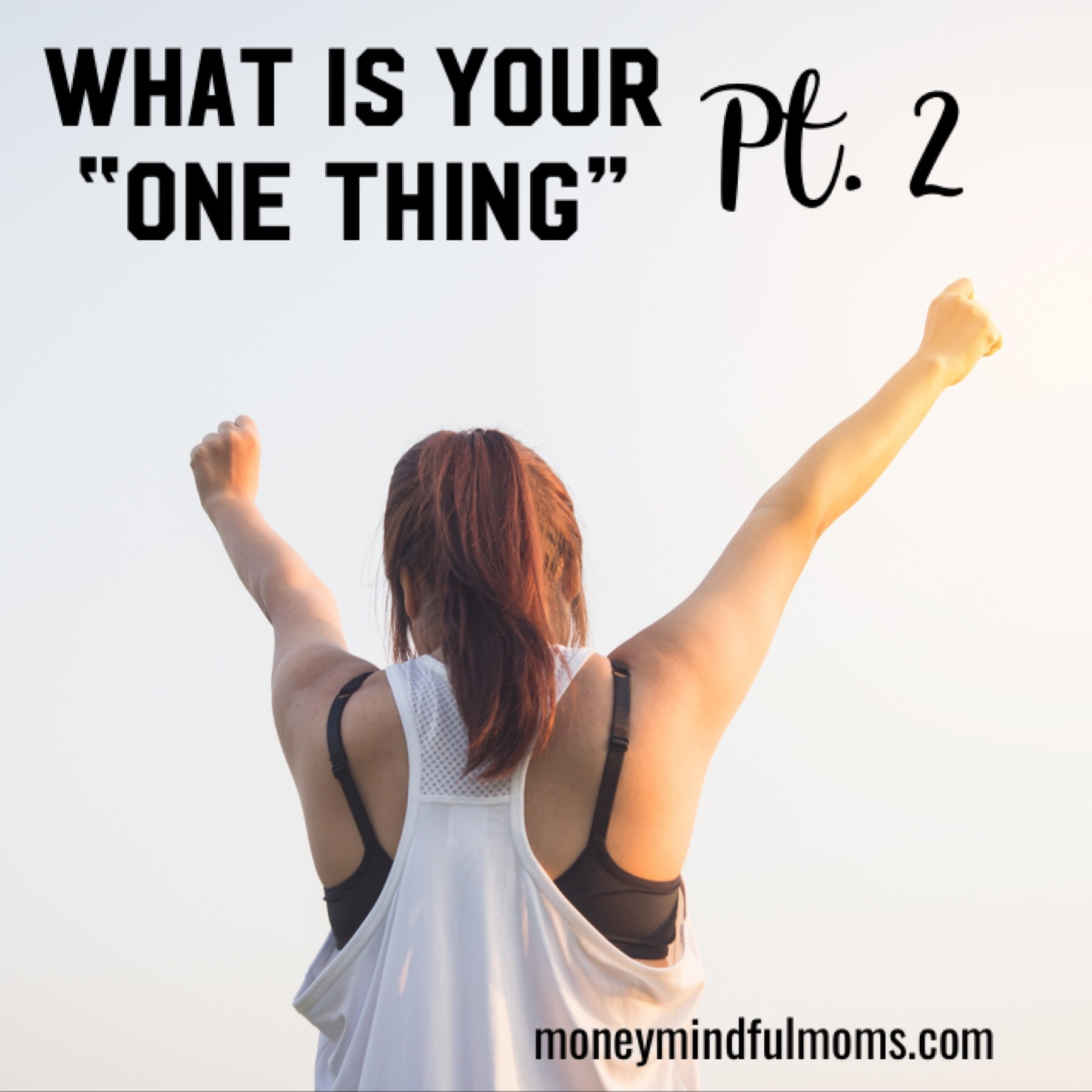 "What is your ""One thing?"" Pt. 2"